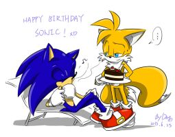 Happy birthday Sonic 2013 by amberday