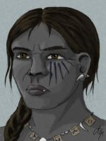 Orc woman by Luned