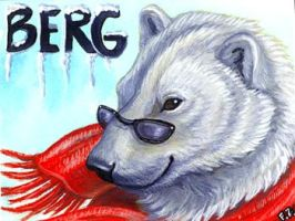 Berg Polar Bear Badge by Foxfeather248
