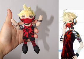 Kagamine Len plush - Unhappy refrain outfit by Pikanessy