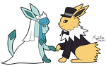 Pkmn - Glaceon x Jolteon by MapleRose