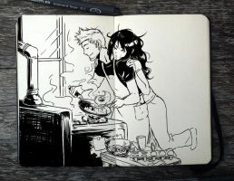 #331 Breakfast for Two by Picolo-kun