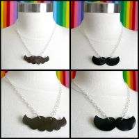 Mario n Luigi Stache Necklaces by HezaChan