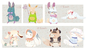 [CLOSED] ADOPT Set Price 48  Pet by Piffi-adoptables
