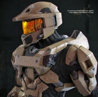 Master Chief  Desert Scheme - Close-Up by SgtHK