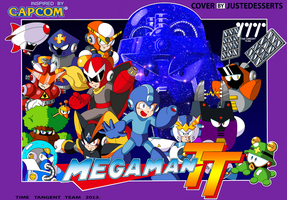 Mega Man Time Tangent Famicom Cover alt by JusteDesserts