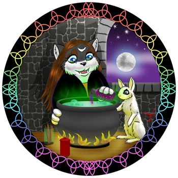 Wolfie the Potion Maker by WolfenM