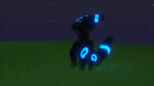 Umbreon at Night by alewism