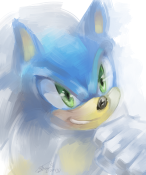 Sonic speedpaint by f-sonic