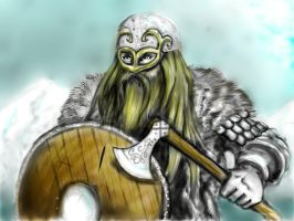 Viking warrior by jormungan13