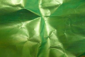 Crumpled Green Paper 4 by Niedec-STOCK