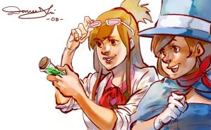 Ema and Trucy by 2beats