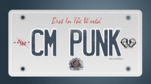 License Plate CM Punk by lovelives4ever
