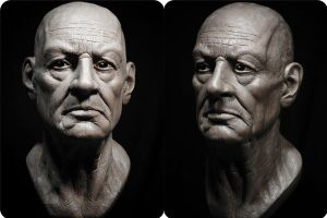 Old man Bust Study by glaucolonghi
