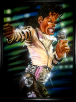 The King of Pop Caricature by TheBigGunns