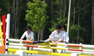 Jumping the Course by zippostock
