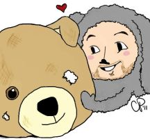 Wilfred and Bear by CayleyAlaina