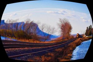 Tracks along the River by Wuss-Lee