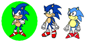 Classic Sonic and Fakers by LegendySonicFan