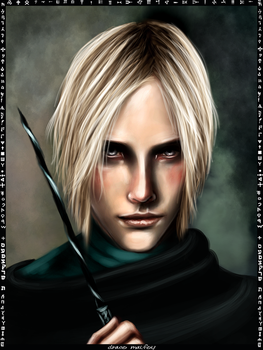 Draco Malfoy card by Patilda