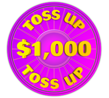 Wheel of Fortune - $1,000 Toss Up Icon by darellnonis