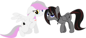 Dashboom and Aulann (request) by lightningtumble