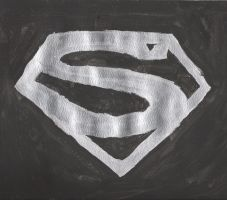 superman logo silver by ellie-belly