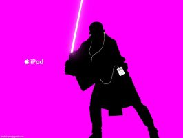 Mace Windu iPod ad by hitokirivader