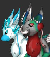 Snowflake and Brook the angel dragons by Serj-Tankian-Fan09