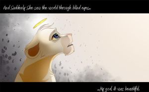 She saw the world through blind eyes... by Kitchiki