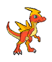 Firaptor - Fire/Electric Fakemon by Manuxd789
