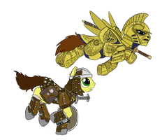 Ponies in Skyrim by Ovni-the-UFO