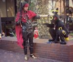 Vincent Valentine and Umbreon Shadocon 2012 by Metallica005