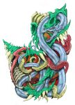 The Bio Dragon Tattoo Dsgn col. ver. by ca5per