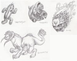 FF monster sketches by kyattsu