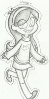 Just a sketch of Mabel by Blue-Hoodie
