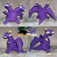 Two-Headed King Rex Plushie by roseannepage