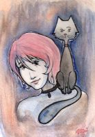 Watercolor: Vicky and Friend by Mimisaurus