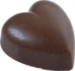 brown chocolate heart png by Nexu4