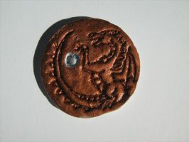 Dragon coin - first version by ElorenLeianor