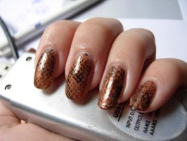 Snakeskin nails by SarahJacky
