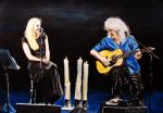 Brian May and Kerry Ellis by DrowseART