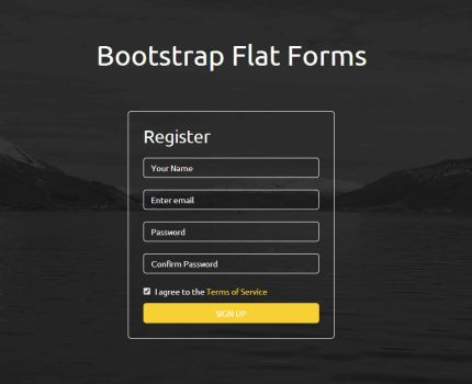 Bootstrap Flat Forms by trissialabs