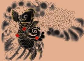 Japanese Tattoo design - old by Perpetuum-Mobile
