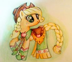 Applejack gala dress by cinnamonquibble
