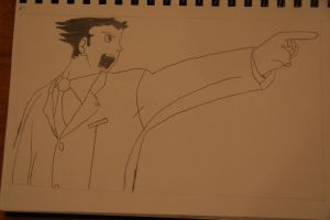 Phoenix Wright by Hitsuzen-of-Watanuki