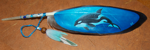 Orca Feather Painting by BlueMidna