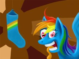 Rainbow Socks by FantDragon