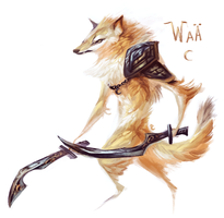 Golden Warg by Kipine