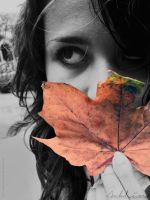 Me and the Leaf II by YourLittleBunny